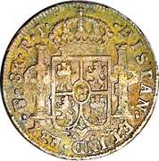 8 Reales - Fernando VII (Countermarked Coinage) – reverse