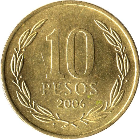 Resultado de imagen para 10 pesos chile