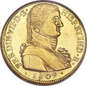 8 Escudos - Fernando VII (imaginary military bust) – obverse