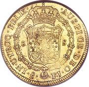 8 Escudos - Fernando VII (imaginary military bust) – reverse