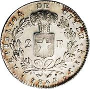 2 Reales (small type) – reverse