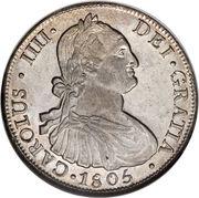 8 Reales - Carlos IV (bust of Carlos IV) – obverse