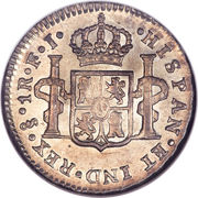 1 Real - Carlos IIII (bust of Carlos IV) – reverse