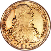 8 Escudos - Fernando VII (bust of Carlos IV) – obverse