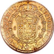8 Escudos - Fernando VII (bust of Carlos IV) – reverse