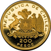 200 Pesos (150th Anniversary of the Crossing of the Andes) – reverse