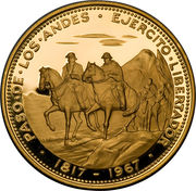 200 Pesos (150th Anniversary of the Crossing of the Andes) – obverse