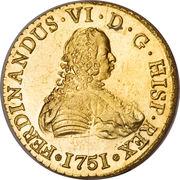 8 Escudos - Fernando VI (first bust of Fernando VI, Inverted Fleece) – obverse