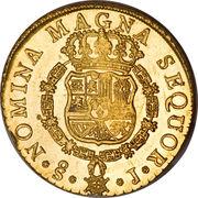 8 Escudos - Fernando VI (first bust of Fernando VI, Inverted Fleece) – reverse