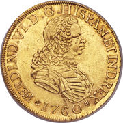 8 Escudos - Fernando VI (second bust of Fernando VI) – obverse