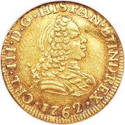 1 Escudo - Carlos III (bust of Fernando VI) – obverse