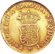 1 Escudo - Carlos III (bust of Fernando VI) – reverse