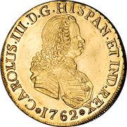8 Escudos - Carlos III (bust of Fernando VI) – obverse