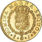 8 Escudos - Carlos III (bust of Fernando VI) – reverse