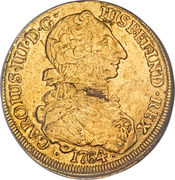 8 Escudos - Carlos III (Colonial Milled Coinage) -  obverse