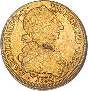 8 Escudos - Carlos III (bust of Carlos III, rat nose type) – obverse