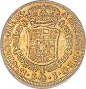 8 Escudos - Carlos III (Colonial Milled Coinage) -  reverse