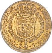 8 Escudos - Carlos III (bust of Carlos III, rat nose type) – reverse