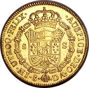 8 Escudos - Carlos III (bust of Carlos III, regular type) – reverse