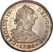 4 Reales - Carlos IV (Colonial Milled Coinage) – obverse