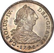 4 Reales - Carlos IV (bust of Carlos III, CAROLUS IV) – obverse