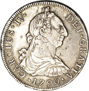 8 Reales - Carlos IV (Colonial Milled Coinage) – obverse