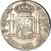 8 Reales - Carlos IV (Colonial Milled Coinage) – reverse