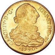 8 Escudos - Carlos IV (bust of Carlos III) – obverse