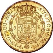 8 Escudos - Carlos IV (bust of Carlos III, CAROL IV) – reverse