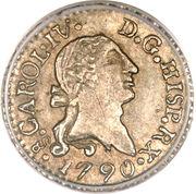 ¼ Real - Carlos IV (bust of Carlos III) – obverse