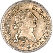 ¼ Real - Carlos IV (bust of Carlos III, CAROL IV) – obverse