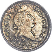 ¼ Real - Carlos IV (Colonial Milled Coinage) – obverse