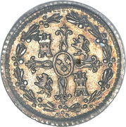 ¼ Real - Carlos IV (bust of Carlos III, CAROL IIII) – reverse