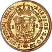 8 Escudos - Carlos IV (bust of Carlos III, CAROL IIII) – reverse