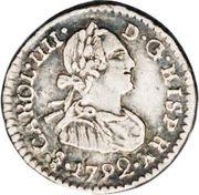 ¼ Real - Carlos IIII (bust of Carlos IV) – obverse