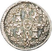 ¼ Real - Carlos IV (Colonial Milled Coinage) – reverse