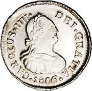 ½ Real - Carlos IV (Colonial Milled Coinage) – obverse