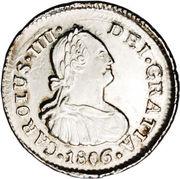 ½ Real - Carlos IV (bust of Carlos IV) – obverse