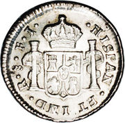½ Real - Carlos IV (Colonial Milled Coinage) – reverse