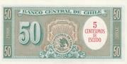 5 Centesimos (Overprint on 50 Pesos) -  reverse