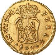 1 Escudo - Carlos III (bust of Carlos III, rat nose type) – reverse