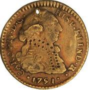 1 Escudo - Carlos IV (bust of Carlos III, CAROL IV) – obverse