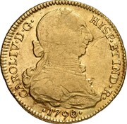 4 Escudos - Carlos IV (bust of Carlos III, CAROL IV) – obverse