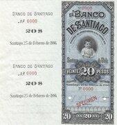 20 Pesos - Banco de Santiago – obverse
