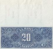 20 Pesos - Banco de Santiago – reverse