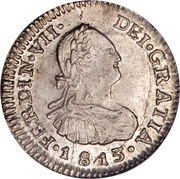 ½ Real - Fernando VII (Colonial Milled Coinage) – obverse