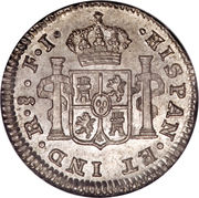 ½ Real - Fernando VII (Colonial Milled Coinage) – reverse
