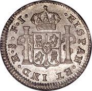 ½ Real - Fernando VII (bust of Carlos IV) – reverse
