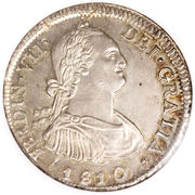 4 Reales - Fernando VII (bust of Carlos IV) – obverse