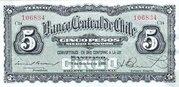 5 Pesos (½ Condor) – obverse
